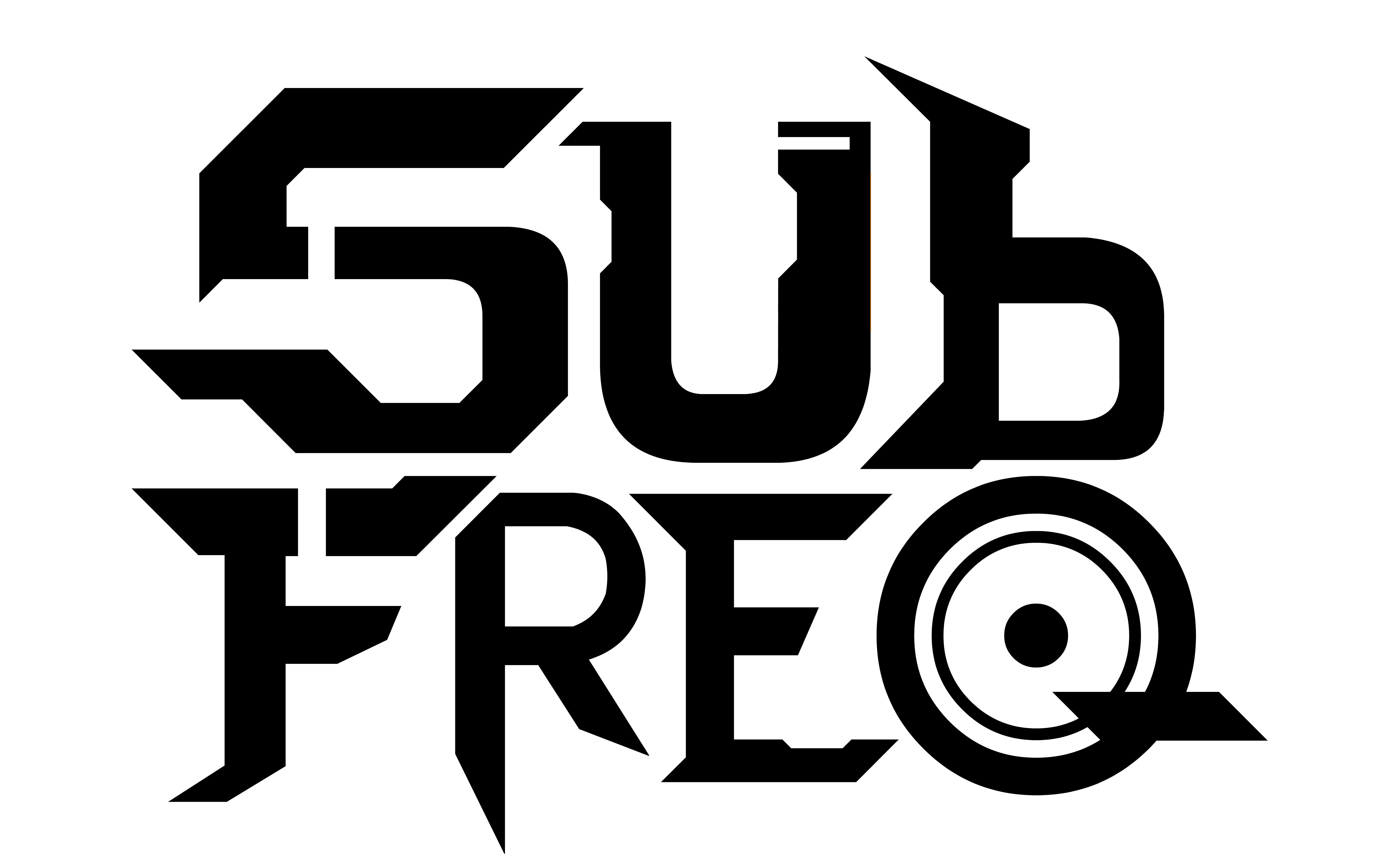 Sub Freq Bass Music Logo